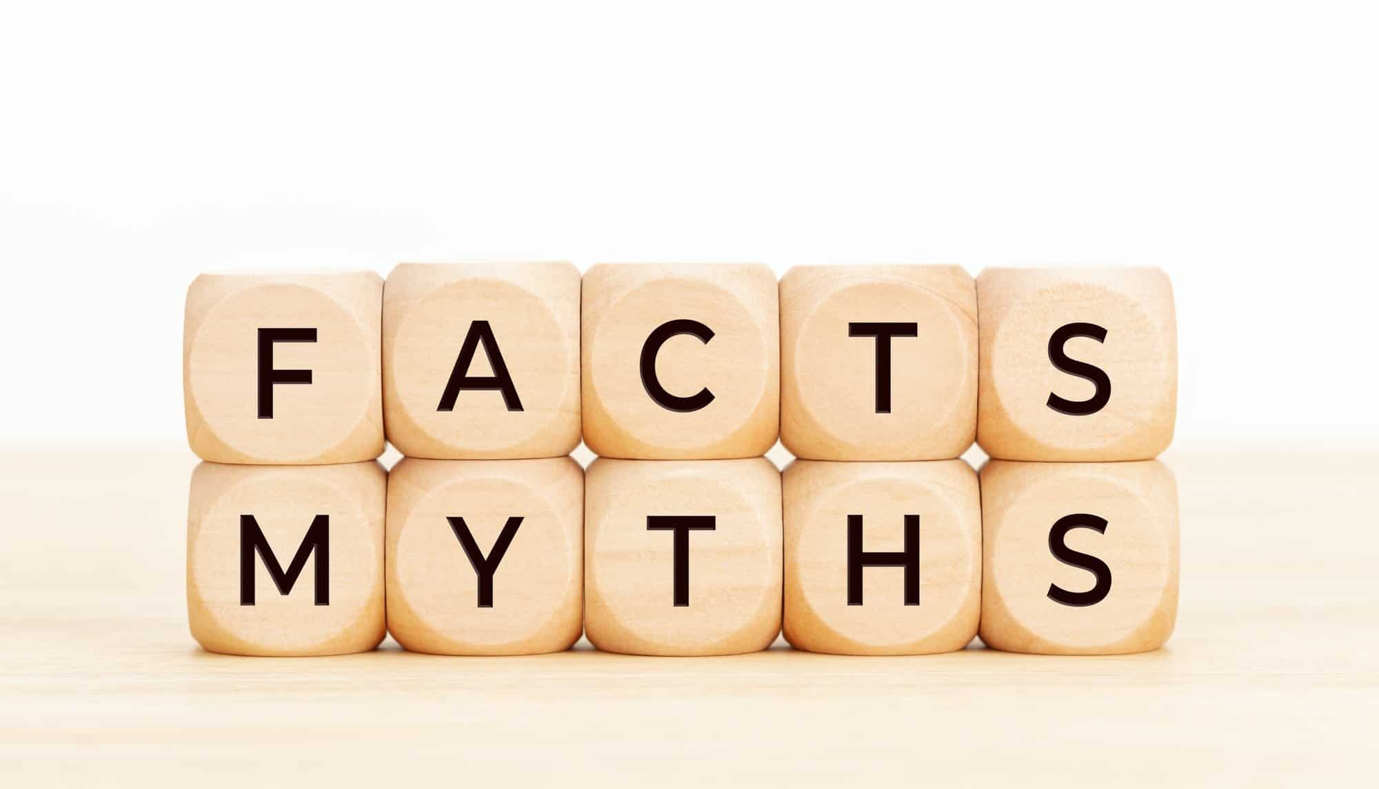 Facts Myths concept