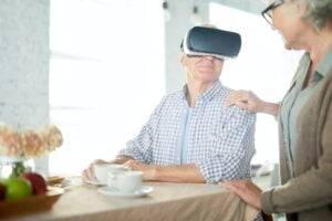 Breakfast in virtual reality